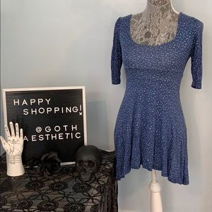 Dainty Blue Dress with Open Back